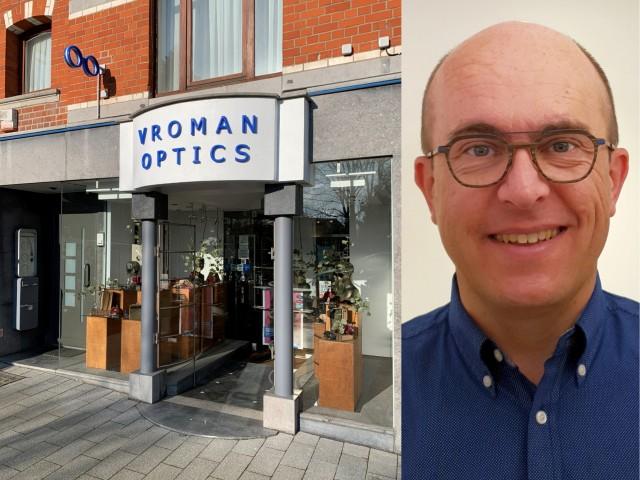 Optiek Vroman Optics brillenwinkel Verheydenstraat 5 1700 Dilbeek opticien Christophe Vroman