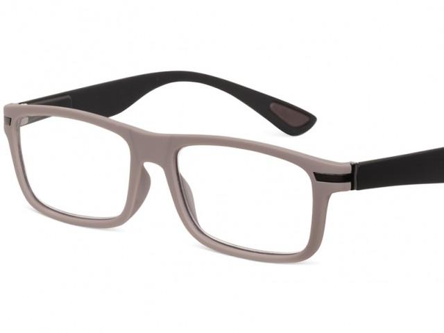 Looplabb leesbril Empress warm grijs/zwart