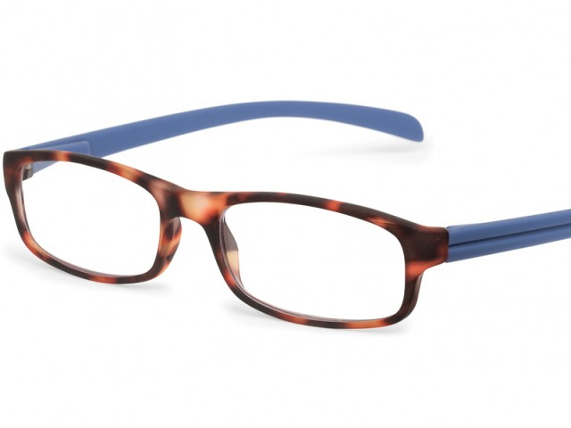 Looplabb leesbril l'Etranger schildpad bruin/blauw
