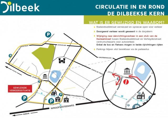 circulatieplan Dilbeek centrum kasteelstraat